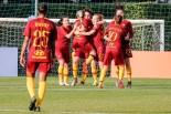 esultanza AS Roma dopo il calcio di rigore tirato da Martina Piemonte