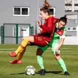 azione di gioco AS Roma vs Florentia