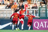 Bonfantini esulta dopo il primo goal