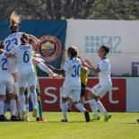 esultanza Atalanta dopo il terzo goal