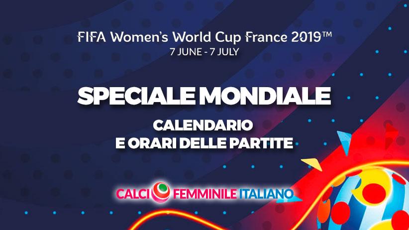 Calendario Partite Premier League.Calendario E Orari Delle Partite Della Fifa Women S World